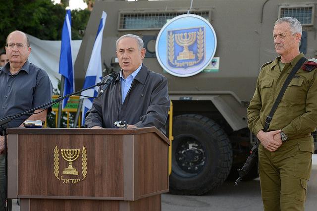 "PM Netanyahu Visits IDF Judea Brigade HQ  ראש הממשלה בנימין נתניהו נושא דברים בעת ביקור בחטמ""ר יהודה. צילום - קובי גדעון / לע""מ"