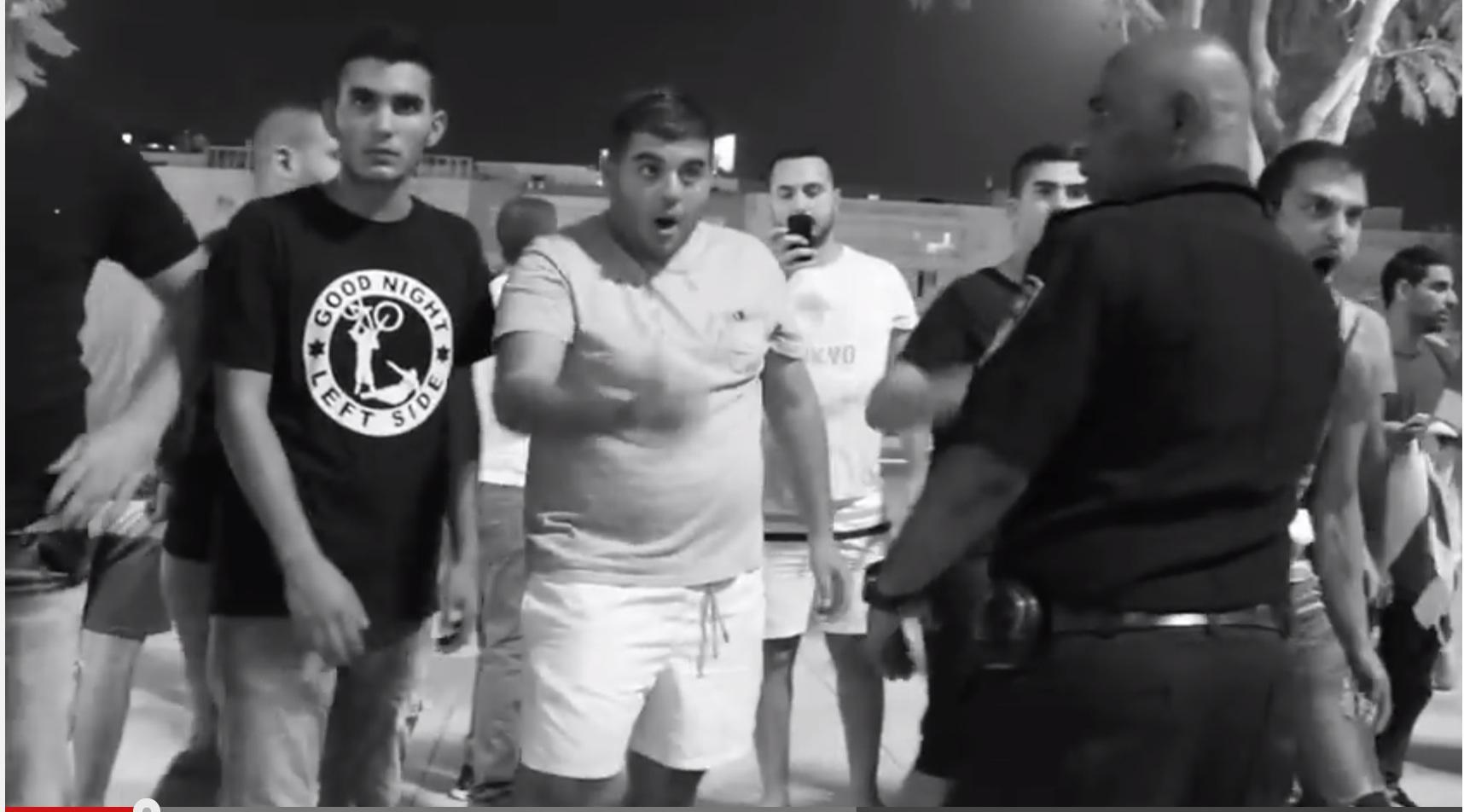 צילום מסך מתוך וידאו שהועלה על ידי מארגני ההפגנה. צלם: אמיר ביתן