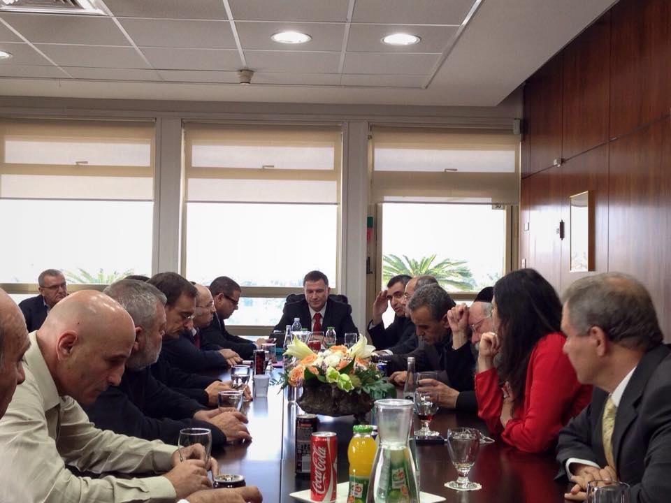 כינוס ראשי כל סיעות הכנסת בלשכת אדלשטיין, 3 בדצמבר 2014