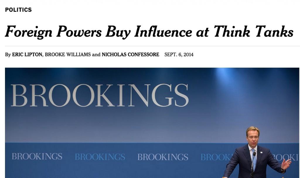הכתבה מן הניו יורק טיימס על השפעת הלובי