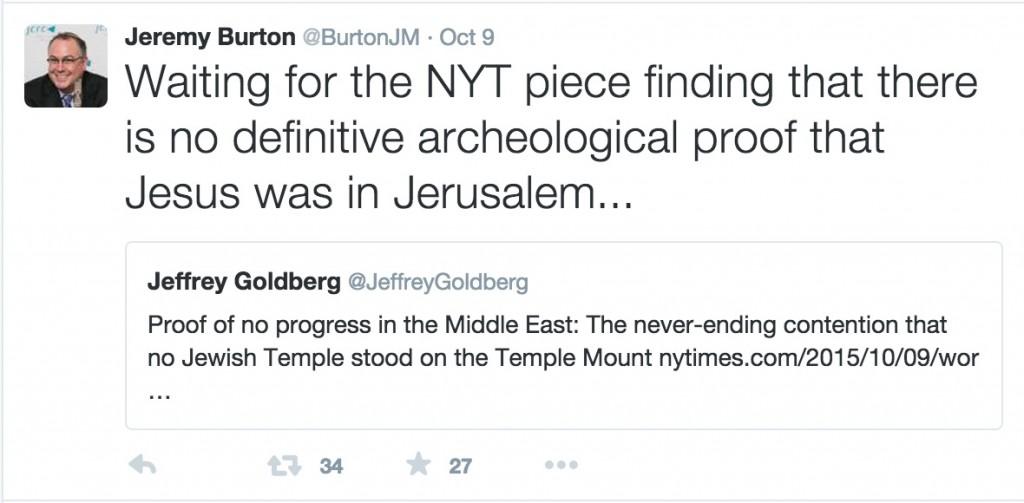 ג׳רמי ברטון ציוץ הר הבית
