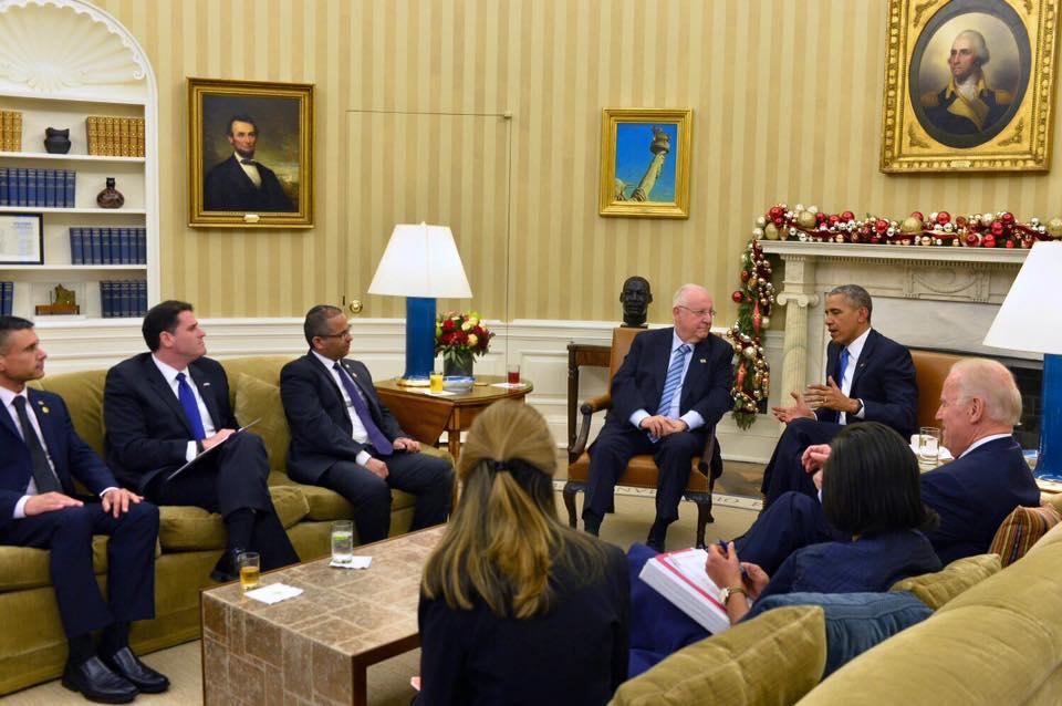 הנשיא ריבלין בביקור אצל הנשיא אובמה, 9 בדצמבר 2015. צילום: דוד סרנגה, לשכת הנשיא