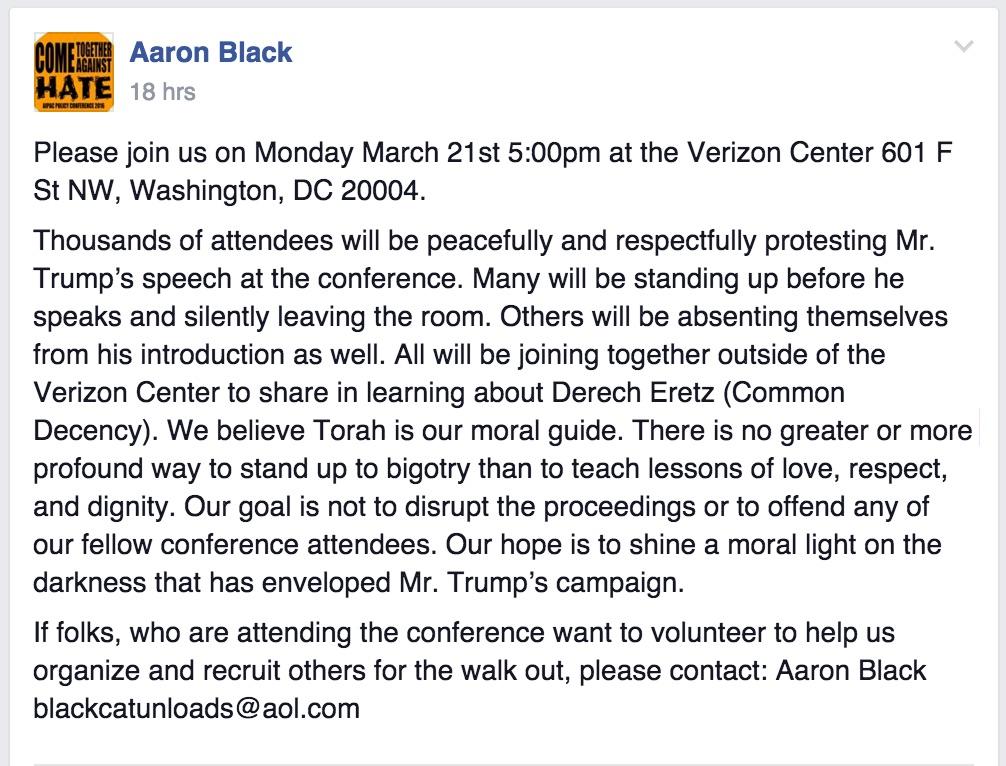 תכנון האירוע נגד טראמפ באיפאק