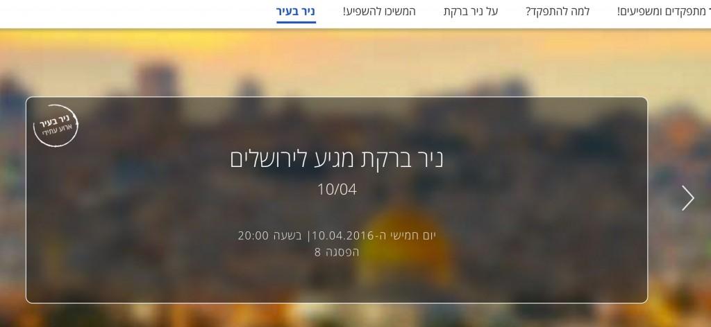 ניר ברקת מגיע לירושלים