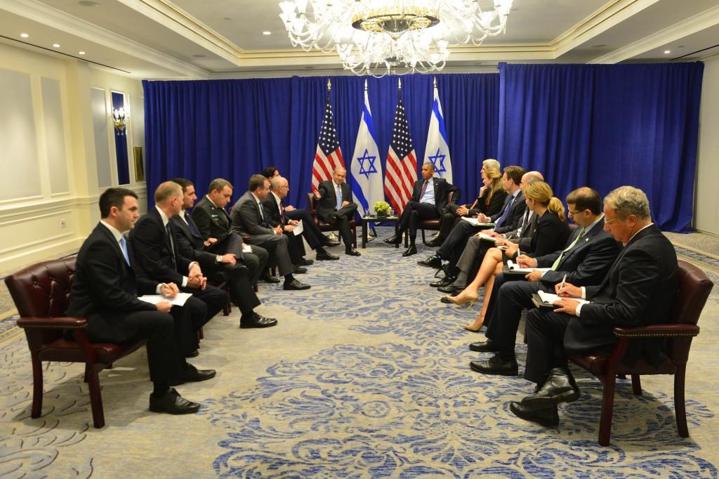 ראש הממשלה בנימין נתניהו נפגש עם נשיא ארצות הברית ברק אובאמה בניו יורק Photo by Kobi Gideon / GPO