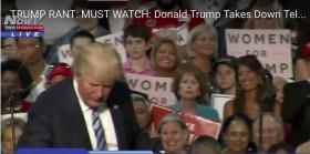טראמפ שבר את הטלפרומטר בנאום פוליטי