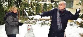 פוטופלוג: פוליטיקאים בשלג