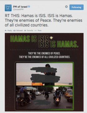 Netanyahu removed Foley's beheading image from his Tweeter feed